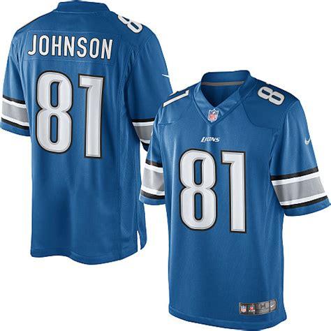 youth blue calvin johnson 81 jersey valuable p 175 youth detroit lions 81 calvin johnson blue jersey