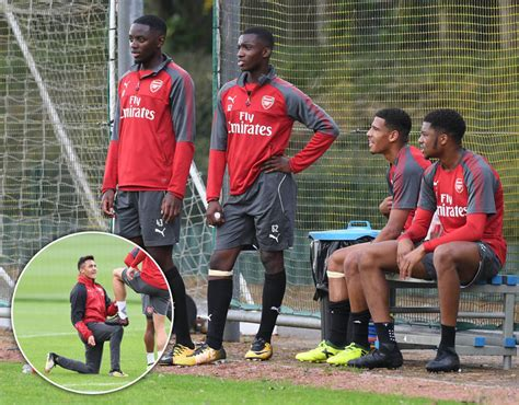 arsenal youth fc arsenal youngsters join in training ahead of doncaster cup