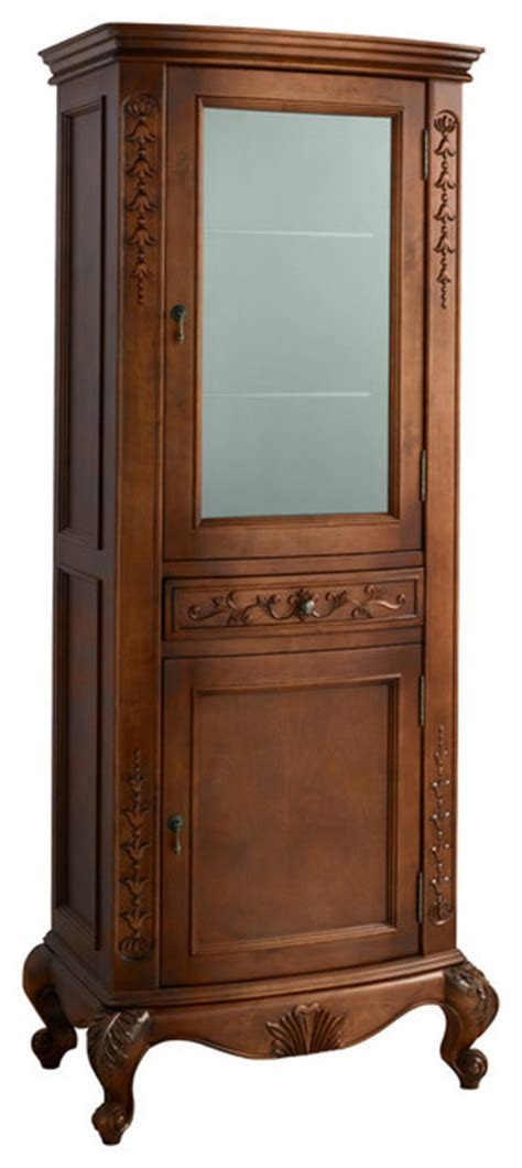 bordeaux curio cabinet colonial cherry traditional