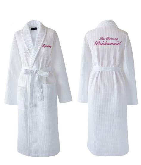 Wedding Dressing Gowns by Personalised Bridesmaid Bridal Waffle Dressing