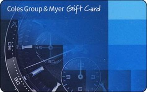 Myer Group Gift Card - gift card coles group myer gift card coles cgm australia single design col