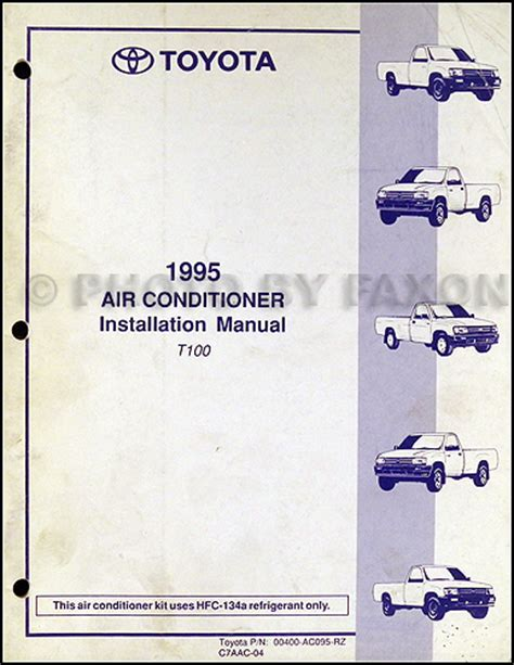 auto repair manual free download 1995 toyota t100 xtra regenerative braking 1995 toyota t100 repair shop manual original 2 volume set