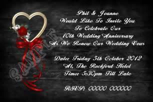 wedding renewal invites uk personalised black and wedding vow renewal