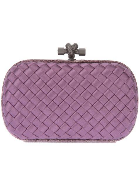 Clutch Bag 1 bottega veneta knot box clutch bag in purple pink purple lyst