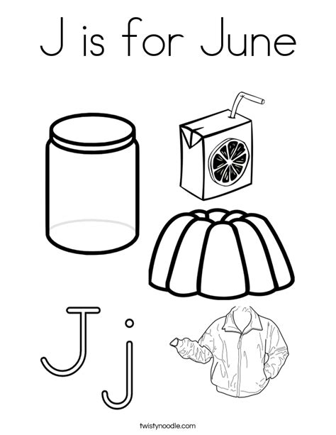 coloring pages for june j is for june coloring page twisty noodle