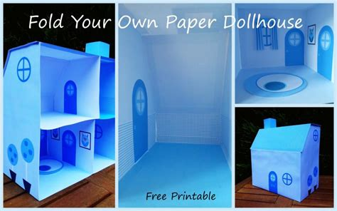 paper doll house blue paper dollhouse look at what i made