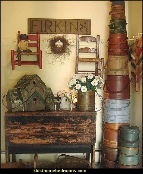 primitive americana decorating ideas rustic colonial style