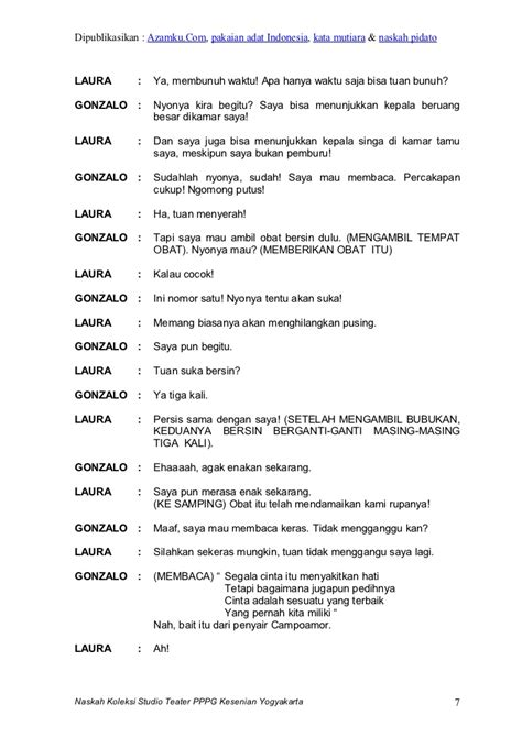 teks naskah drama film indonesia contoh teks drama 7 0rang tentang lingkungan hidup contoh