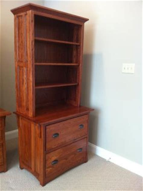 mission lateral file cabinet w hutch top harolds shop