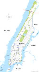 Map Of New York City Manhattan by Map Of Manhattan New York City Map