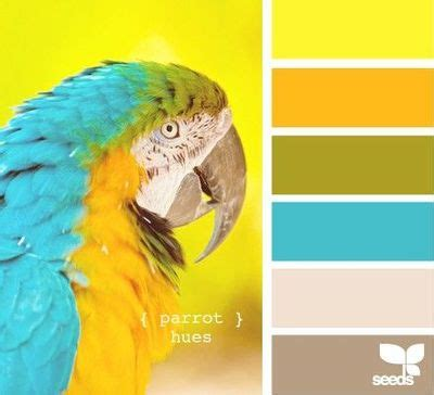 parrot green color palette parrot hues from design seeds love the blue yellow