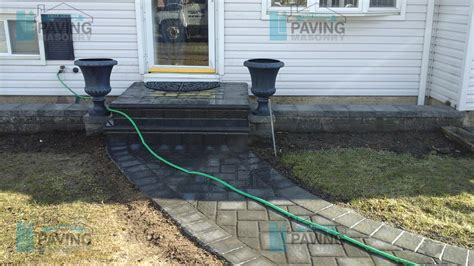 Paver Walkway Gallery Li Paving And Masonry Sidewalk L Posts