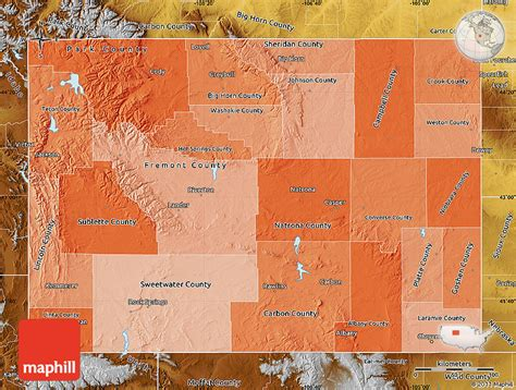 political map of wyoming political shades map of wyoming physical outside