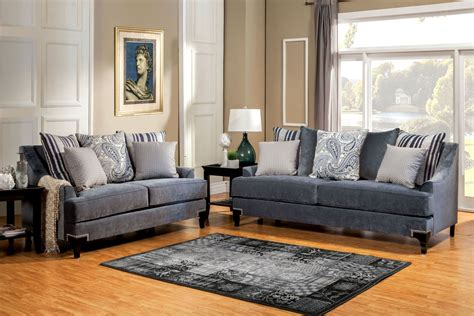 blue living room set vittoria slate blue living room set sm2204 sf furniture