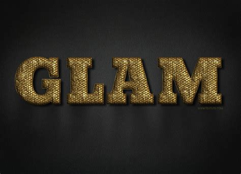 glam gold text effect free psd font download textuts