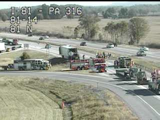 traffic camera shows i 81 traffic moving again after fire
