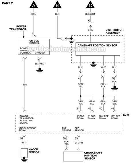 Part 2 Ignition System Wiring Diagram 1993 1998 3 0l