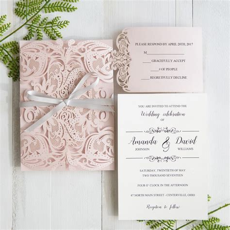 Pink Wedding Invitation Cards by Six Beautiful Pink And Grey Wedding Color Combos With