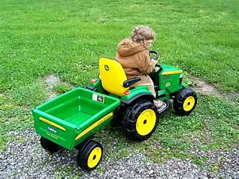 toy john deere turf tractor youtube