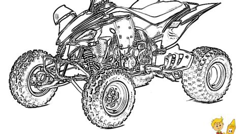 Draw Atv Colouring Pages Gekimoe 116275 Coloring Pages Four Wheeler
