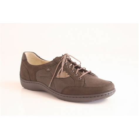 lace up shoes waldlaufer lace up shoe in brown suede and leather