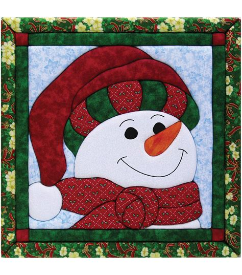 snowman quilt magic kit 12 quot x12 quot at joann