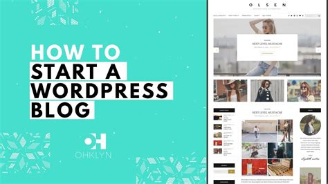 blogger website tutorial how to start a wordpress blog 2018 blog tutorial for