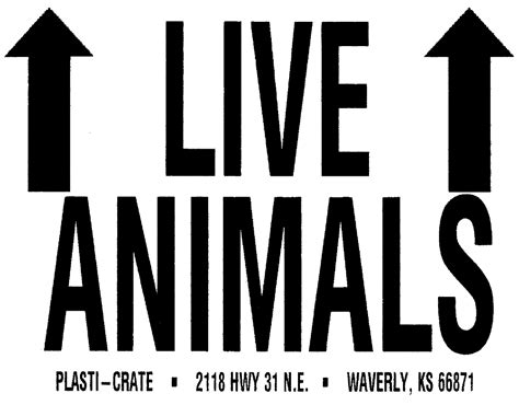 Aufkleber Lebende Tiere by Plasti Crate Shipping Labels Live Animals Sticker