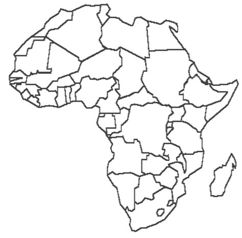 Scramble For Africa Blank Map Africa Coloring Page