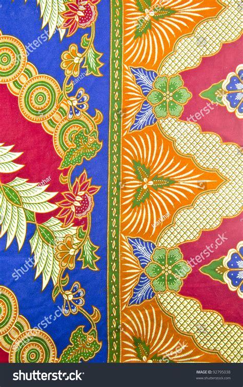 batik design of malaysia design malaysian batik traditional concept stock photo