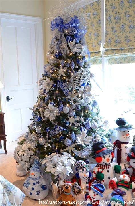 theme tree silver blue crazy for christmas 5 pinterest