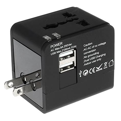 Travel Charger Asus 21a Dual Usb Charger Led Usb 15 Meter ezopower us uk eu au universal all in one international