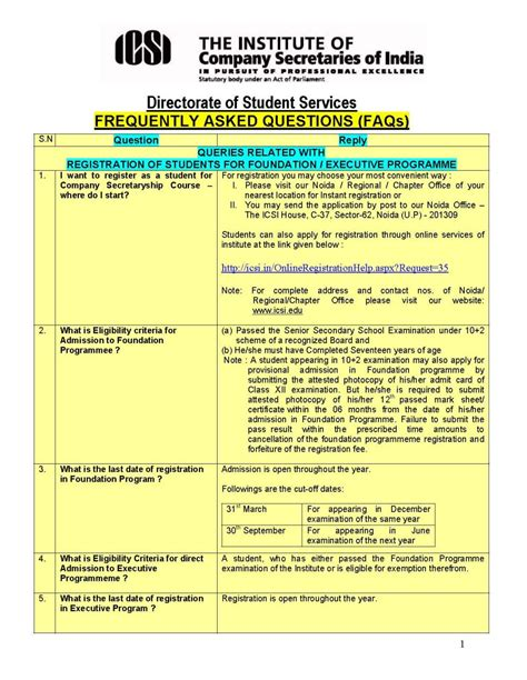 Icsi Exceptions For Mba exemption for icsi students 2018 2019 student forum