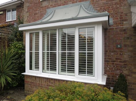 Window Blinds And Shutters Square Bay Window Shutters Fitted In Lymington Shuttersouth