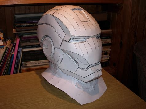 Iron Helmet Papercraft Pdf - iron helmet pepakura model by cubicalmember on deviantart