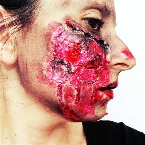 imagenes halloween para la cara maquillaje halloween heridas sin latex blog de belleza