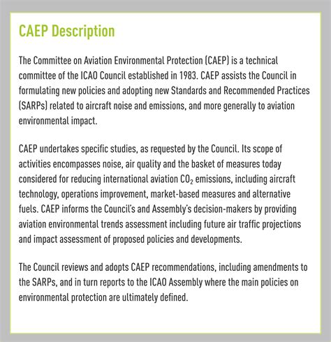 Building Plans Online committee on aviation environmental protection caep