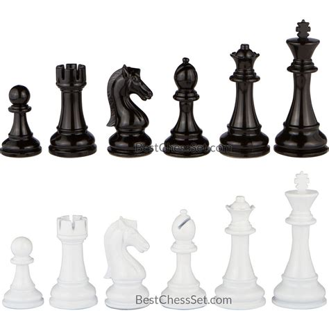 chess set pieces review minerva black and white extra heavy metal chess