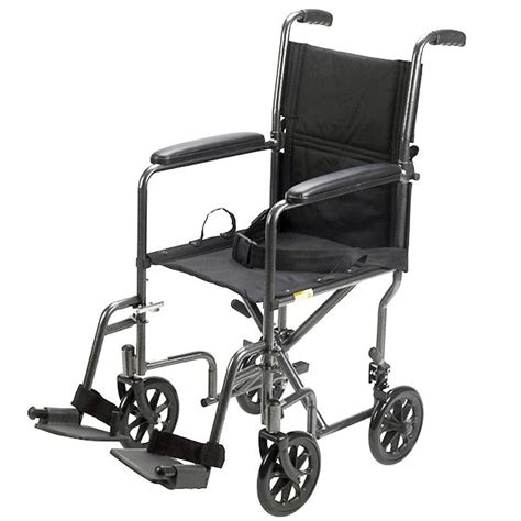 drive 17 steel transport chair black upholstery