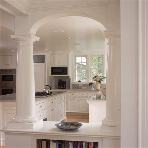 Kitchen Arch Images White Kitchen And Breakfast Room With Fireplace And Arches