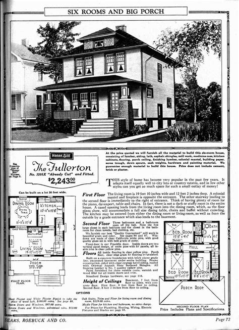 sears floor plans the fullerton sears home i love the porch my style