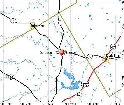 leona texas map de texas