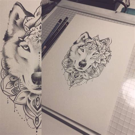 wolf mandala tattoo best 25 mandala wolf ideas on animal mandala