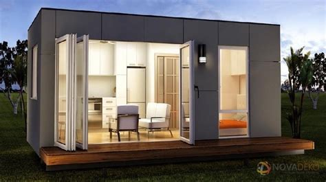 modern tiny house novadeko modular 218 sq ft modern tiny home