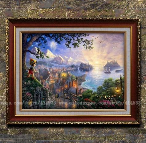 kinkade prints of painting pinocchio wishes