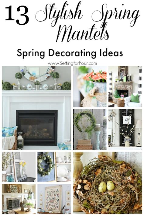 ideas for decorating winter mantel decorating ideas setting for four gallery image sifranquicia 13 stylish spring mantel decorating ideas setting for four