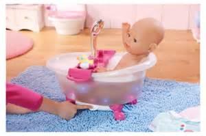 baby born baignoire interactive poup 233 e 43 cm