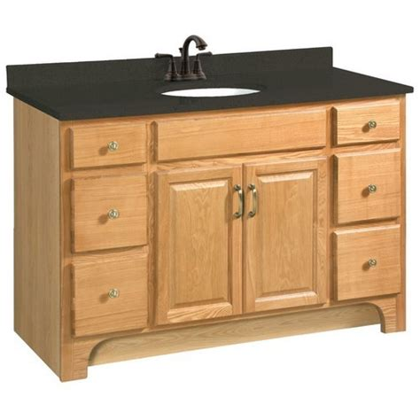 Design House Bathroom Vanity Design House 530410 Richland Nutmeg Oak Vanity Cabinet With 2 Doors And 4 Drawers 48 Inches By