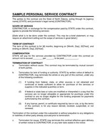 Personal Services Contract Template by Service Contract Sle Personal Service Contract 1