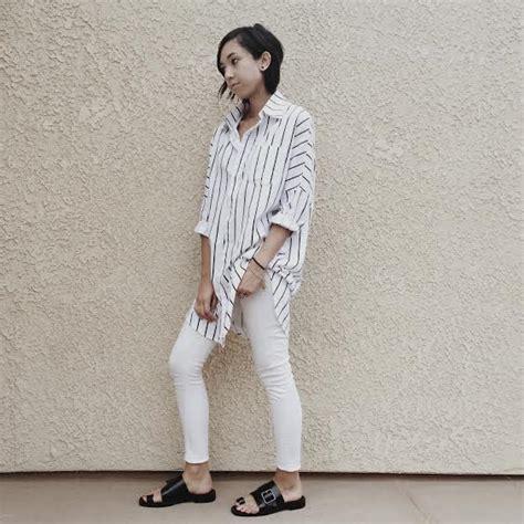 Striped Oversized Shirt oversized striped shirt unconscious style